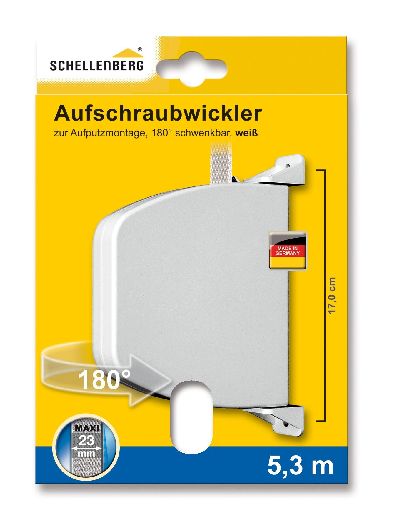 Abschraubwickler Schellenberg Maxi weiß Lochabstand 17 cm Bild 1