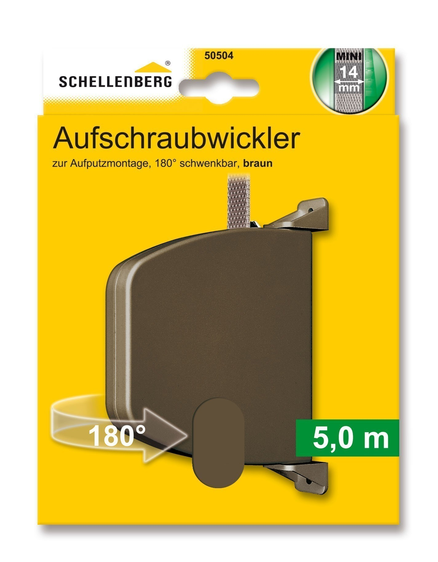 Aufschraubwickler Schellenberg Mini braun Lochabstand 14,5cm Bild 1