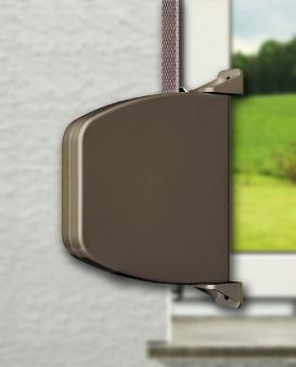 Aufschraubwickler Schellenberg Mini braun Lochabstand 14,5cm Bild 2
