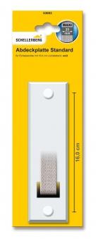 Abdeckplatte Schellenberg Maxi Lochabstand 16cm für Einlasswickler
