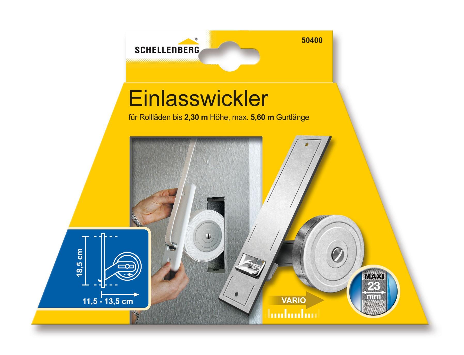 Einlasswickler Schellenberg Maxi Lochabstand 18,5cm fürGurtlänge 5,60m Bild 1