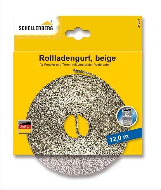 Rollladengurt Schellenberg Maxi Breite 23 mm / 12 m beige Bild 1