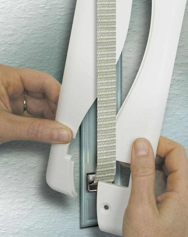 Schellenberg Abdeckplatte Soft Line DUO für Rolladengurt 16cm weiß Bild 2