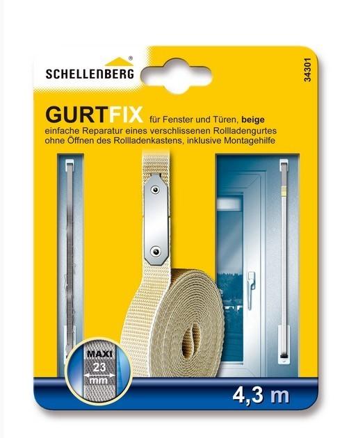 Schnellreparaturset Schellenberg Gurtfix Maxi beige 23mm/4,3m Bild 1