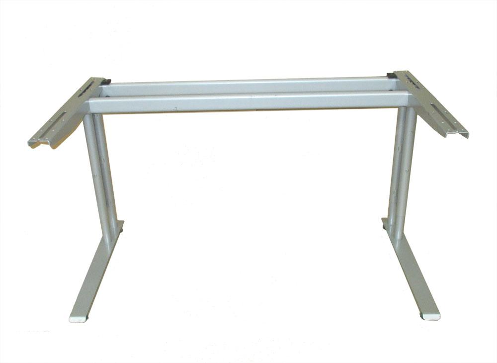 Bürotischgestelle / Schreibtisch-Untergestelle silbergrau Set 4 Stück Bild 1