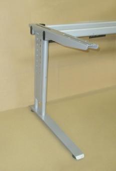 Bürotischgestelle / Schreibtisch-Untergestelle silbergrau Set 4 Stück Bild 2