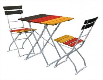 Balkonmöbel / Biergartenmöbel Set 3 teilig Deutschland 70x70cm Bild 1