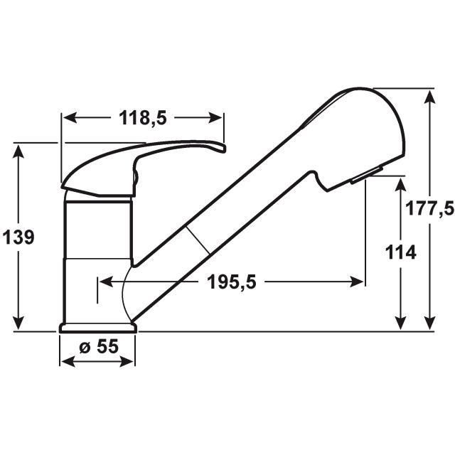 Cornat Küchenarmatur / Spültisch-Niederdruck-Einhebelmischer Fabio Bild 2