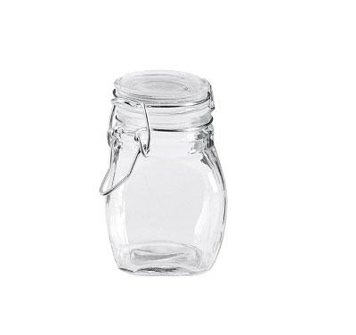 Drahtbügelglas / Vorratsglas Mini eckig 105ml Bild 1