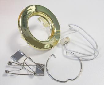 Einbauring messing für Halogenlampen Ø8/5cm Bild 1