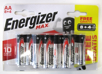 Energizer Batterien AA / Mignon / LR6 Sparpack 12 Stück Bild 1
