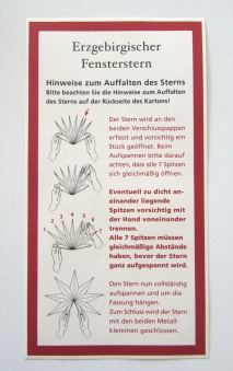 Faltstern / Erzgebirgischer Fensterstern Ø 43cm rot Bild 2