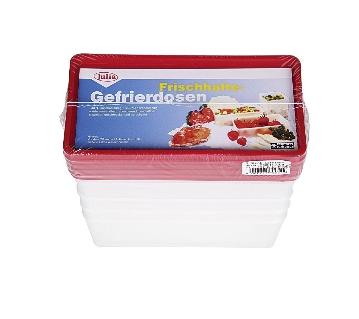 Frischhaltedose / Gefrierbehälter sia 1,25L 5Stück Bild 1