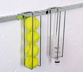 GAH Alberts Sportgerätehalter / Haken für Tennisbälle 26x5cm Bild 1