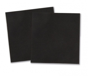 GAH Alberts Moosgummischeibe für Sportgeräte schwarz 5x5cm 2Stck