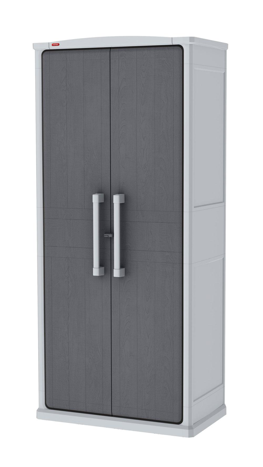 Gartenschrank Keter Optima Wonder Cabinet Tall 80,5x47,3x177,8cm grau Bild 2