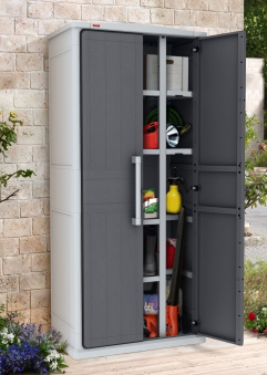 Gartenschrank Keter Optima Wonder Cabinet Tall 80,5x47,3x177,8cm grau Bild 1