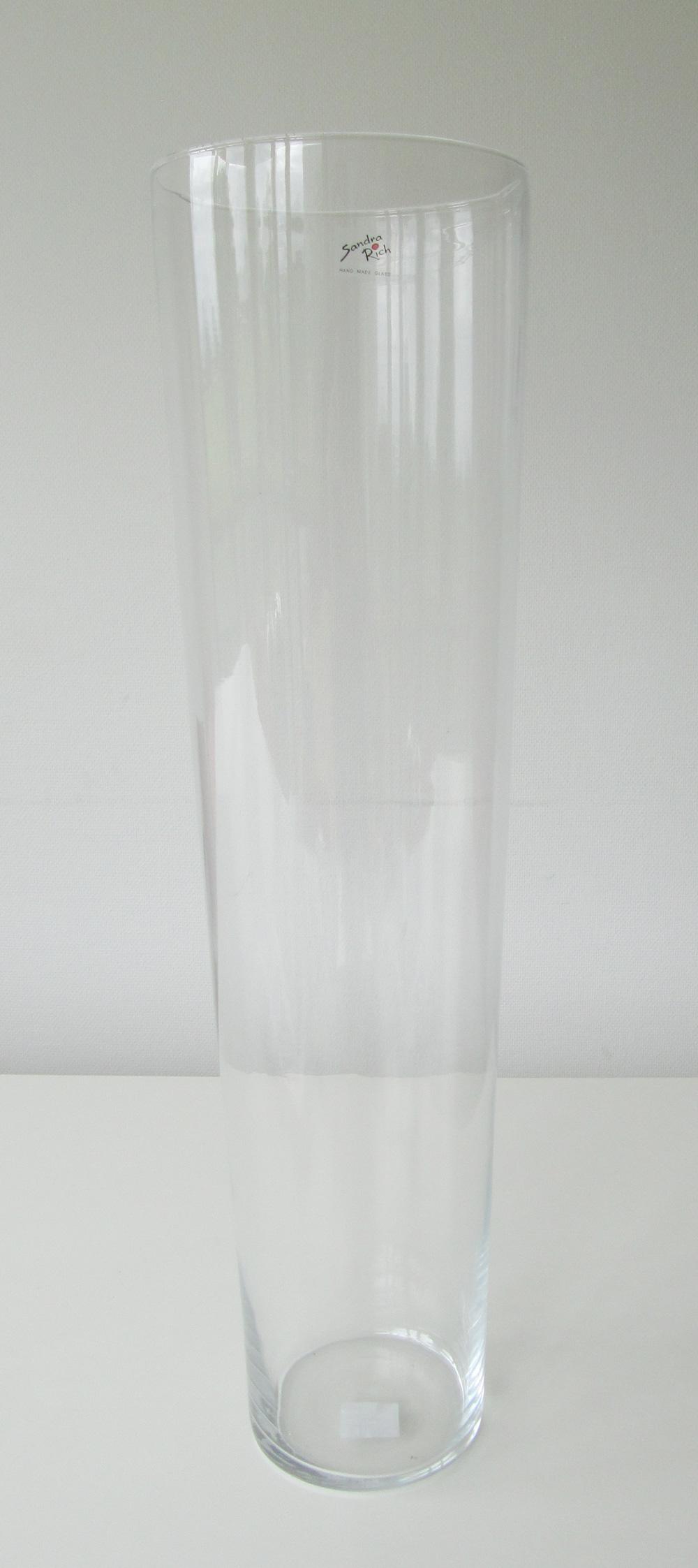 Glasvase Sandra Rich konisch Ø18xH70cm Bild 1