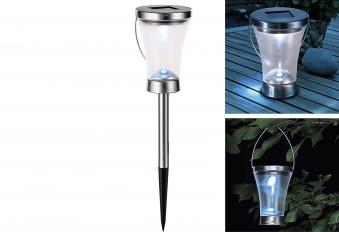 HI Solarlampe 3 in 1 LED Solar 2er Set mit Hängebügel und Erdspieß Bild 1
