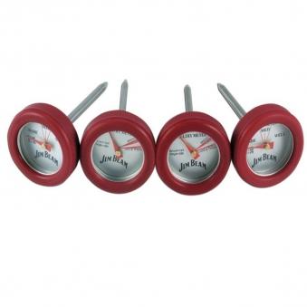 Jim Beam Grillbesteck BBQ Mini Thermometer Grillthermometer 4 Stück Bild 1