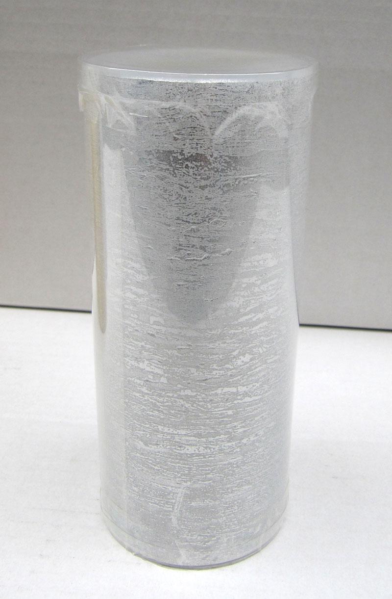 Kaemingk LED Kerze Naturoptik silber Ø 7,5 x H 17,5cm Bild 1