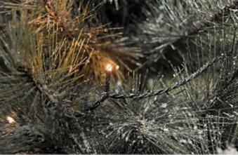 LED Lichterkette Konstsmide Microlight 300 LED außen klar/schwarz Bild 1