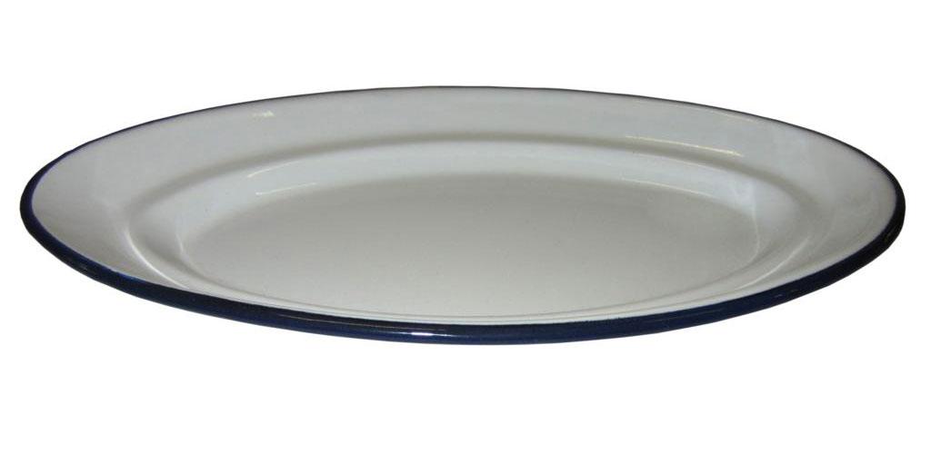Retro Frühstücksplatte 30 cm weiß Bild 1