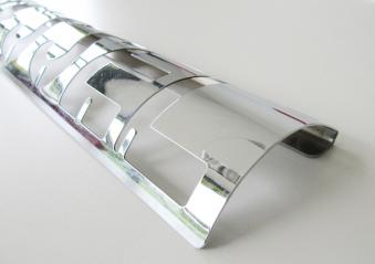 Schlüsselbrett aus Metall silber glänzend 58x10x3cm Bild 1