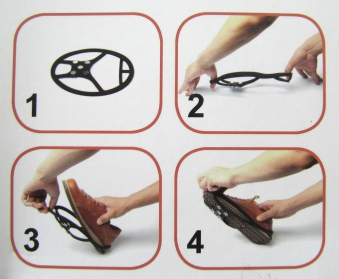 Schuh-Spikes / Anti-Rutsch-Hilfe Magic Spiker 1 Paar Bild 3