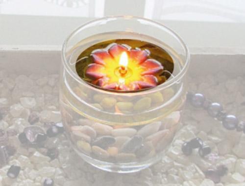 Schwimmkerze - Blume Feuerblumen Handarbeit sort.Farben 5er Pack Bild 1
