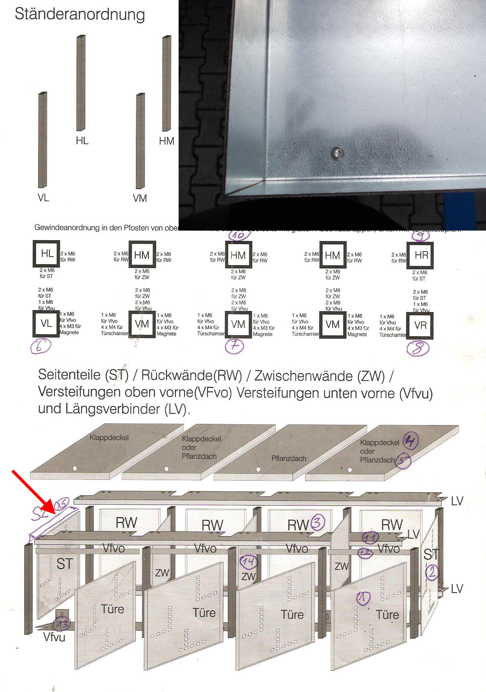 Seitenabdeckung oben für Mülltonnenbox Bild 1
