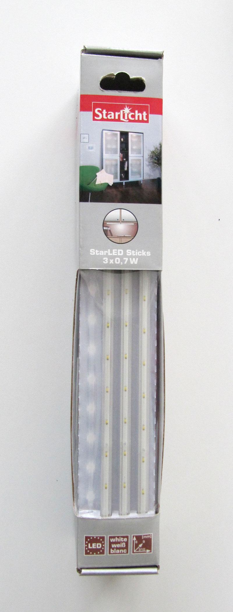 StarLicht Dekoleuchte StarLED Sticks 12 Dioden/Stick 3x0,7W Licht weiß Bild 1