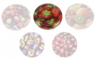 Twist-Off-Deckel / Schraubglas Deckel 66 mm Erdbeeren Bild 1