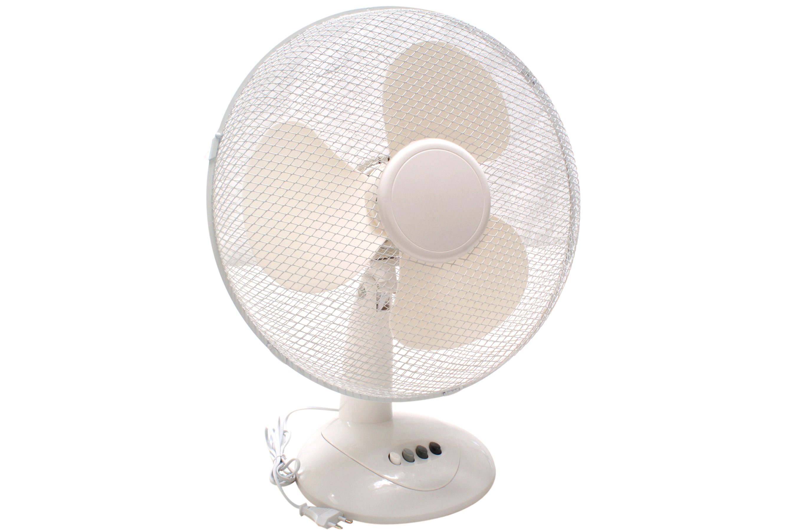 Ventilator / Tischventilator Ø 30 cm 3 Stufen 45 Watt weiß Bild 1
