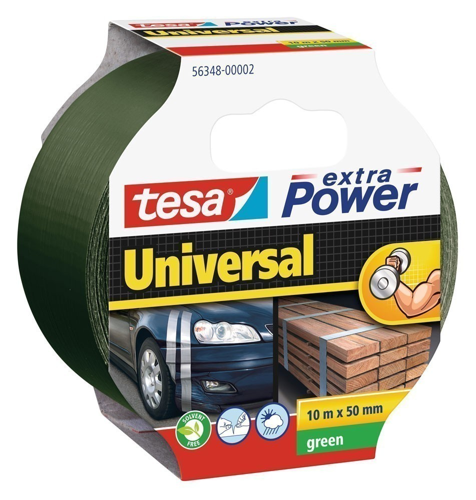 tesa® extra Power Universal Gewebeband 10 m x 50 mm grün Bild 1