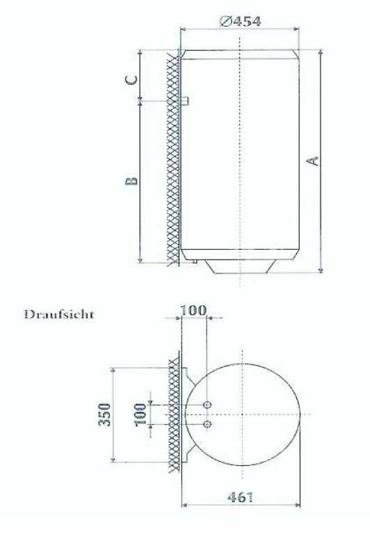 Wasser Boiler / Warmwasserspeicher TGR 50D 50 Liter 2000 W ...