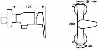 Cornat Einhebelmischer Brause Espera / Bad-Armatur verchromt Bild 2