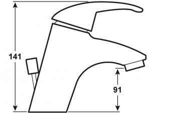 Cornat Einhebelmischer Waschtisch Bova / Bad-Armatur verchromt Bild 2