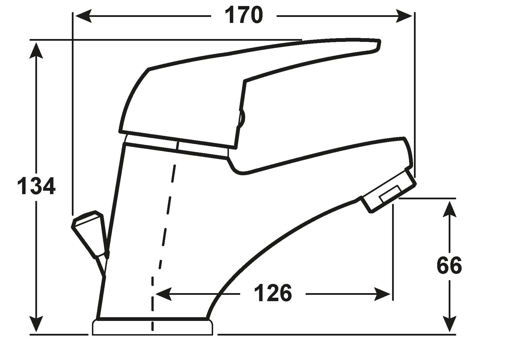 Cornat Einhebelmischer Waschtisch Felitto / Bad-Armatur verchromt Bild 2