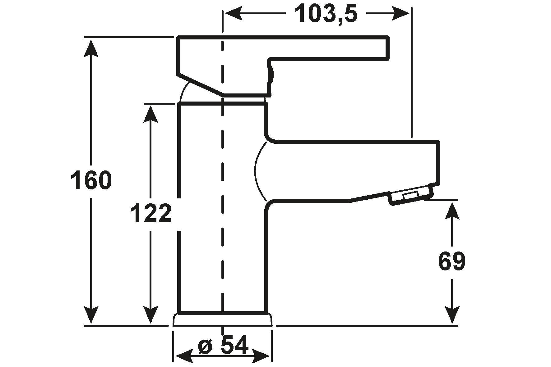 Cornat Einhebelmischer Waschtisch Skagen / Bad-Armatur verchromt Bild 2