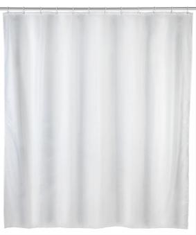 Duschvorhang 120x200cm uni weiß,Polyeste Bild 1