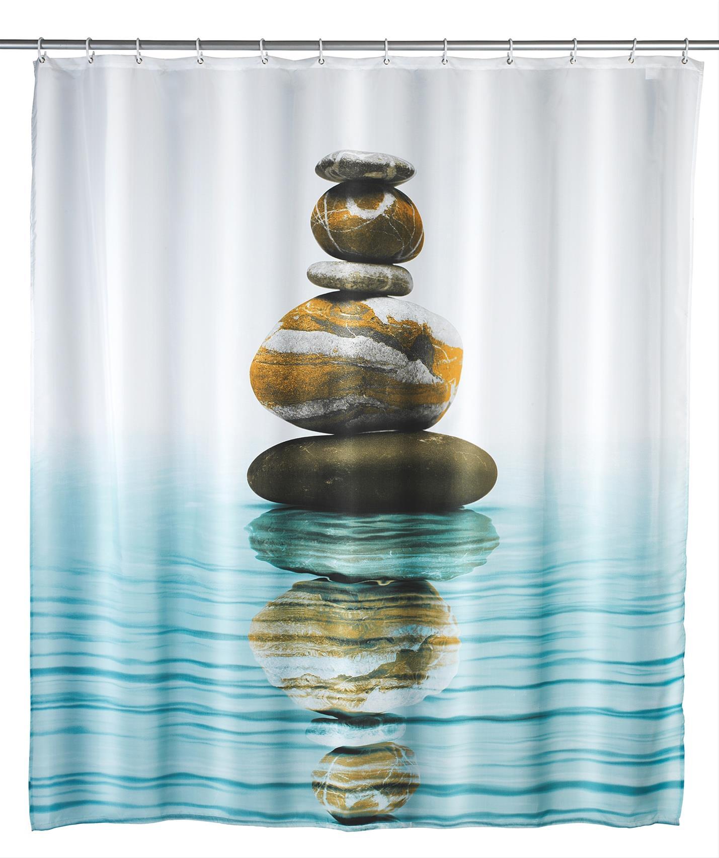 Duschvorhang 180x200 Meditation Polyeste Bild 1
