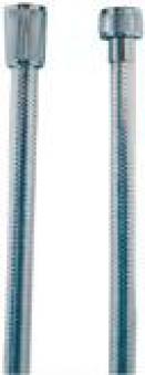 Brauseschlauch KunststoffMetalloptik 150cm chrom Bild 1