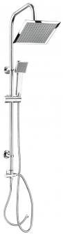 CON:P Duschset CARBALLO Überkopf-Brauseset eckig mit Anti-Kalk-Funkion Bild 1