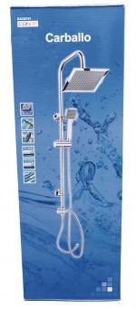 CON:P Duschset CARBALLO Überkopf-Brauseset eckig mit Anti-Kalk-Funkion Bild 2
