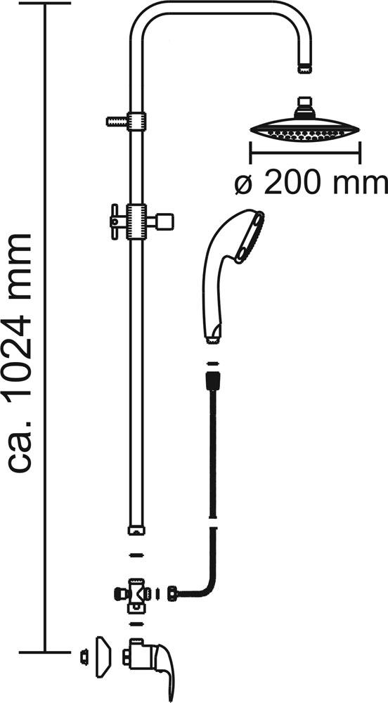 CON:P Duschset CARBALLO Überkopf-Brauseset rund mit Anti-Kalk-Funkion Bild 3