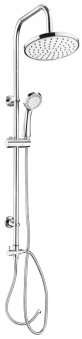 CON:P Duschset CARBALLO Überkopf-Brauseset rund mit Anti-Kalk-Funkion Bild 1