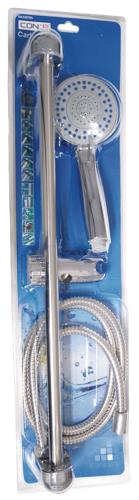 CON:P Duschset CARBALLO Brause-Garnitur 100mm mit Anti-Kalk-Funktion Bild 2