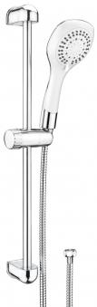 CON:P Duschset CARBALLO Brause-Garnitur chrom-weiß