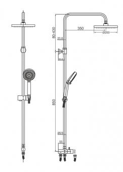 Cornat Duschsystem ROUND mit Anti-Kalk-Funktion Bild 2